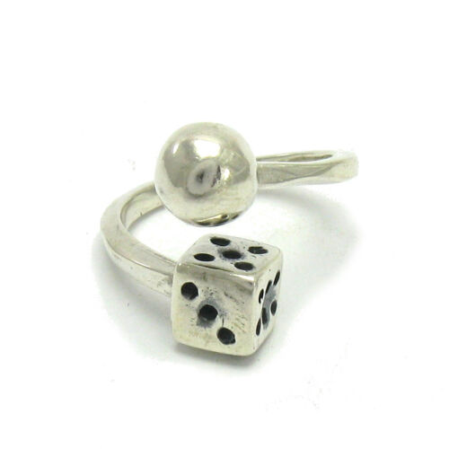 STERLING SILVER RING SOLID 925 DICE AND BALL R001414 EMPRESS