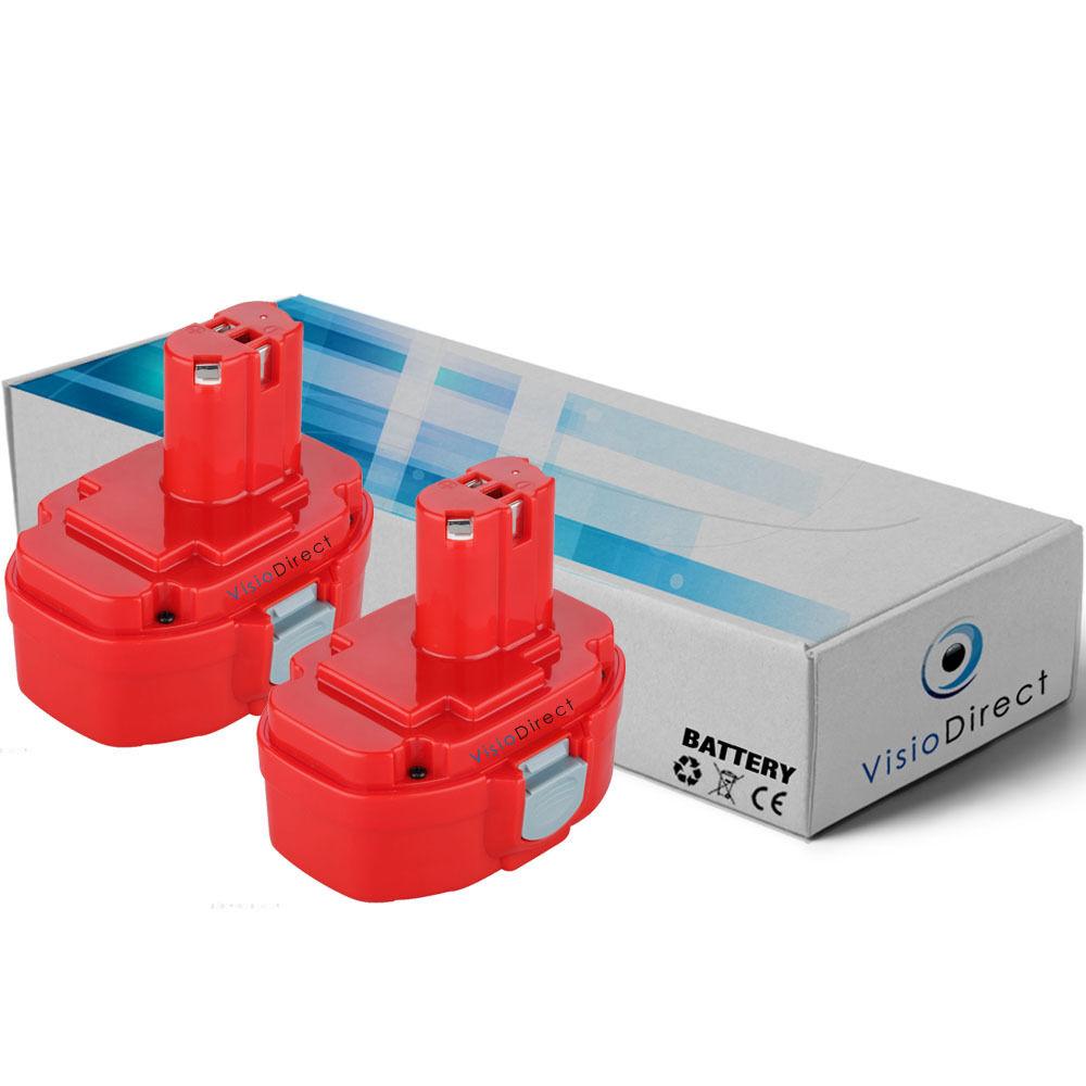 Lot de 2 batteries 18V 3000mAh pour MAKITA 5046DWB - Société Française -