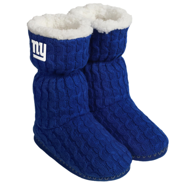 5c3ba9e8 New York Giants NFL Women's Blue Bootie Slippers Size L (9-10) - New with  Tags