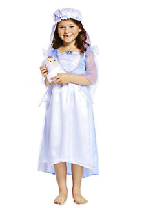 Girls-Mary-Outfit-Fancy-Dress-Up-Christmas-Nativity-School-Play-Costume-7-8yrs