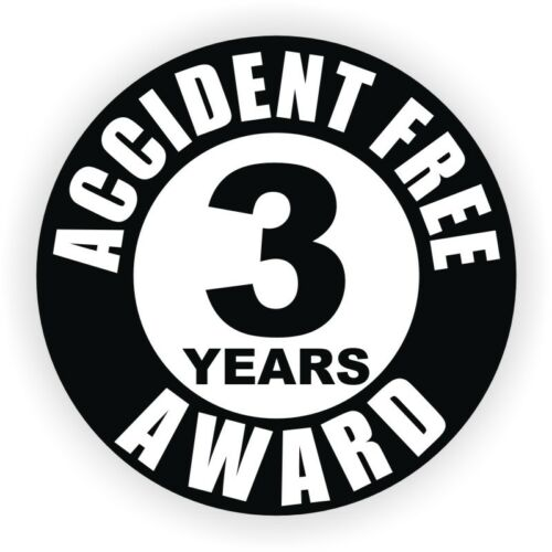Helmet Sticker Label Safety Award Accident Free 3 Years Hard Hat Decal