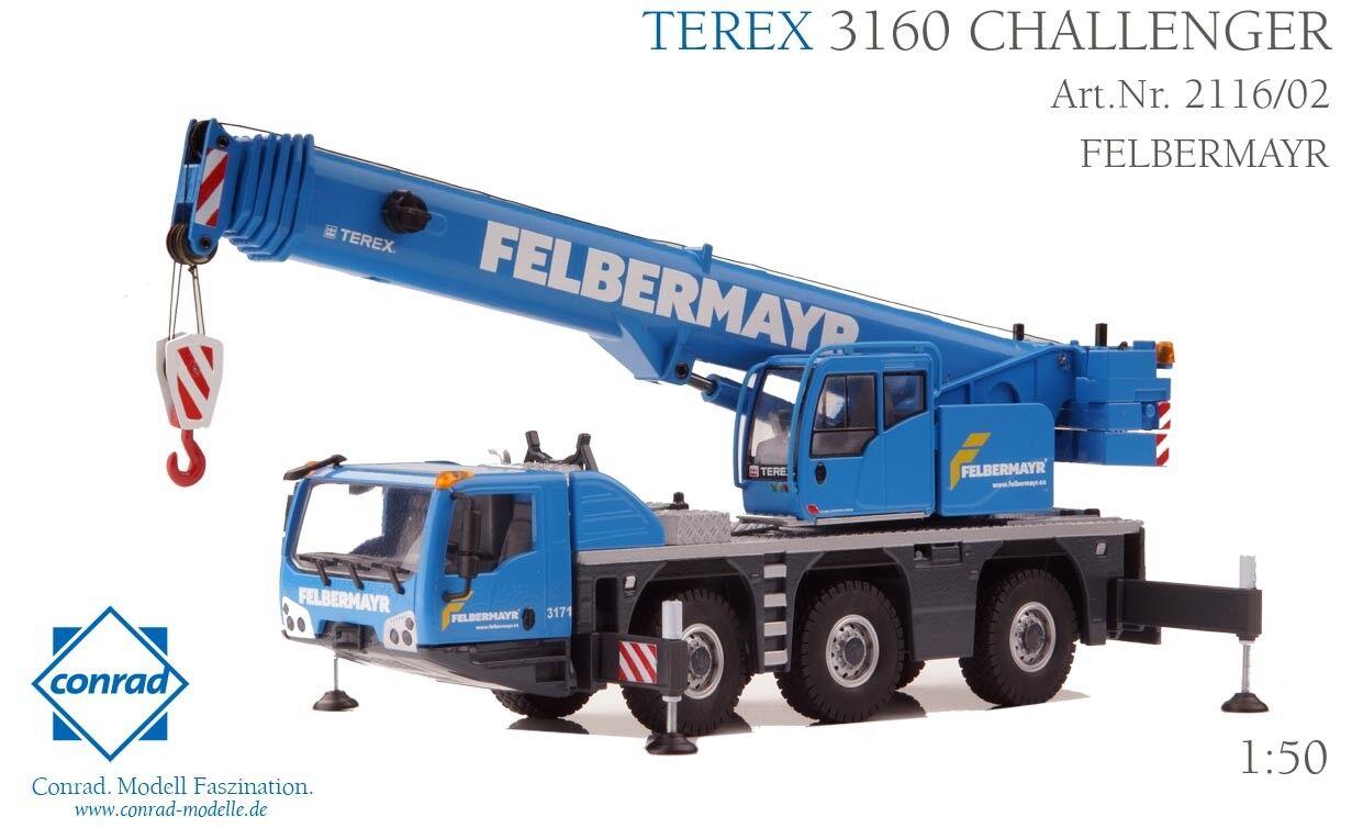 Conrad 2116 02 TEREX 3160 Challenger Mobilkran FELBERMAYR NEU   OVP  | Hochwertige Produkte