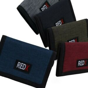 Red-X-Mens-Boys-TriFold-Sports-Card-Coin-Wallet-Canvas