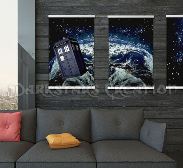 Dr. Who, Tardis in Space, Limited Edition Planet Art Print, Darkstars Creation