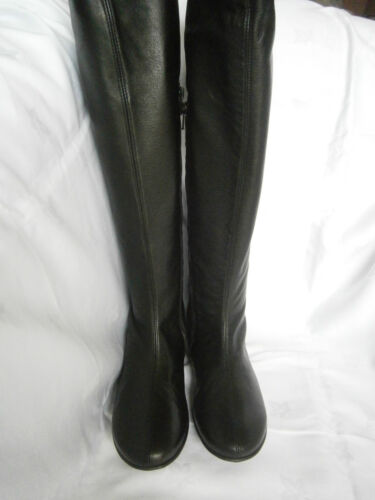 Girls Ladies Women Black Real Leather Boots Made in Italy BARGAIN BNIB
