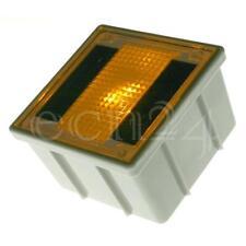Solar Pflasterstein 10x10cm mit gelber LED als Bodenstrahler Solarleuchte