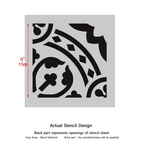 Pared stencil marroquí Reutilizable Azulejo T0067 para hágalo usted mismo Decoración de Pared Piso De Muebles