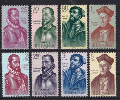 Briefmarken Nett Spanien 1962 Postfrisch Minr 1346-1353 Eroberungsgeschichte Amerikas