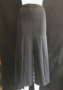 BNWT-SANDRO-PARIS-Ladies-Long-Black-Multi-Slit-Maxi-Skirt-Size-1-W-26-034-RRP-200