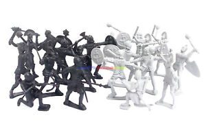 New-Medieval-Castle-Roman-Soldier-Figures-20pcs-Plastic-Army-Men-Toy-Soldiers
