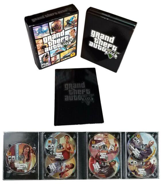 Grand Theft Auto Five V (PC, 2015) 7 DVD-ROM DISCS