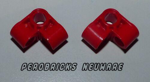 Lego Technic Technik 2x 3fach Eck Verbinder Pin #44809 rot NEUWARE