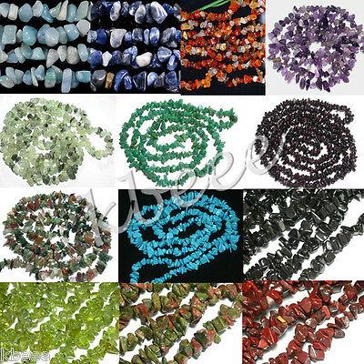 HOT Natural Gemstone Loose Freeform Chip Beads Fit Jewelry Bracelet Necklace DIY