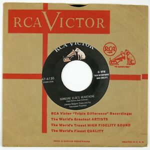 JIMMIE-RODGERS-SNOW-Someone-Else-039-s-Heartache-The-Flame-Of-7IN-1955-COUNTRY-NM