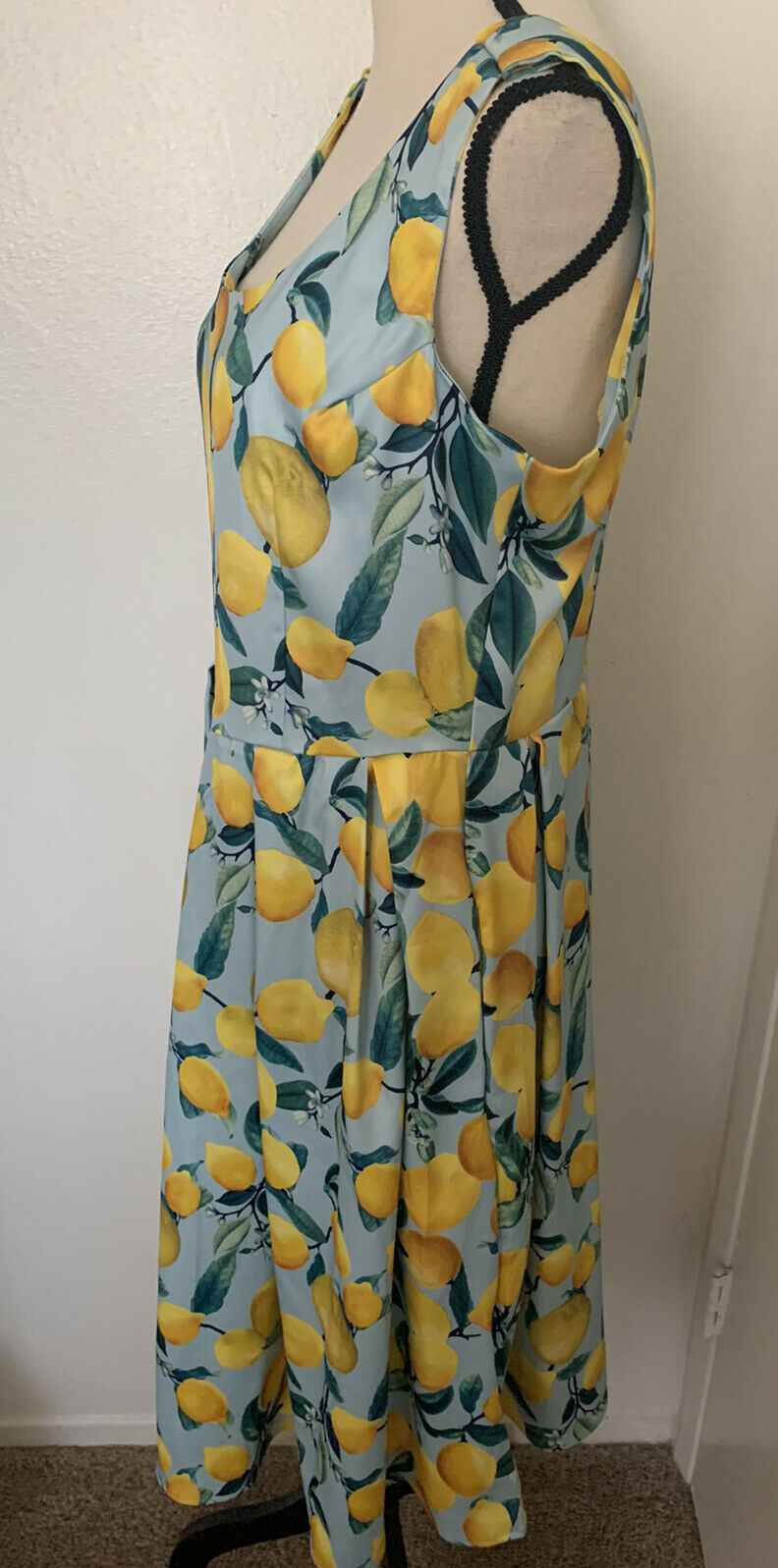 Dolly and Dotty Vintage Inspired Lemon Print Dres… - image 4