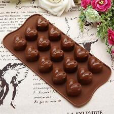 Silicone 15-Heart Shaped Choclate Mould Tray Bakeware Cake Decorating Mold Jian