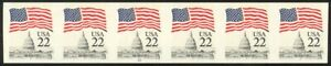2115g-22c-Flag-Imperf-Plate-22-VF-NH-Strip-of-6