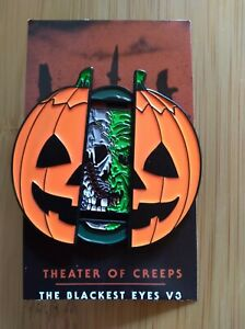 Theater of Creeps Halloween III Masks Deluxe Sliding Enamel Pin Limited Edition