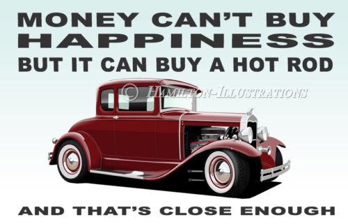 29 Ford V8 Model A 5 Window Hot Rod Art illustration Novelty Fridge Magnet