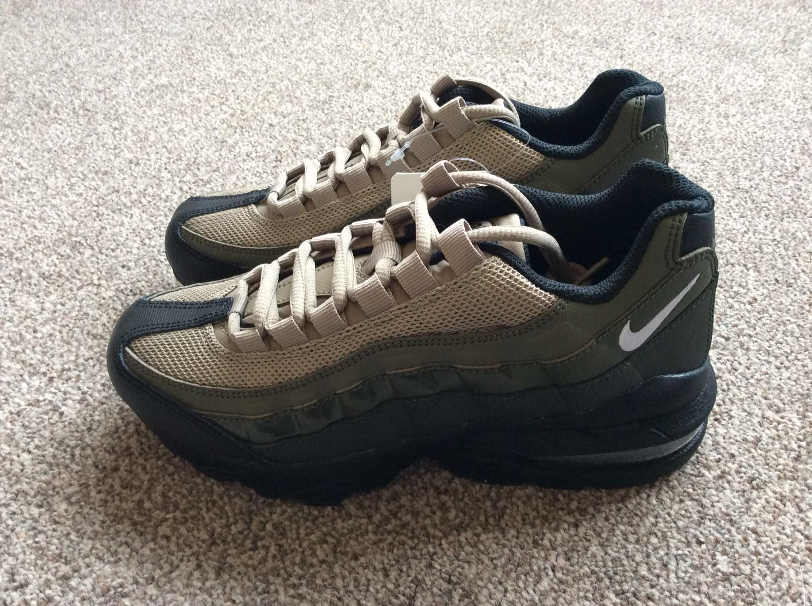 Nike Air Max 95 GS Khaki Noir Sequoia Uk