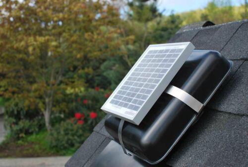 "Solar Roof Vent Solar RVOblaster with /""Brown/"" Vent Solar Attic Fan"