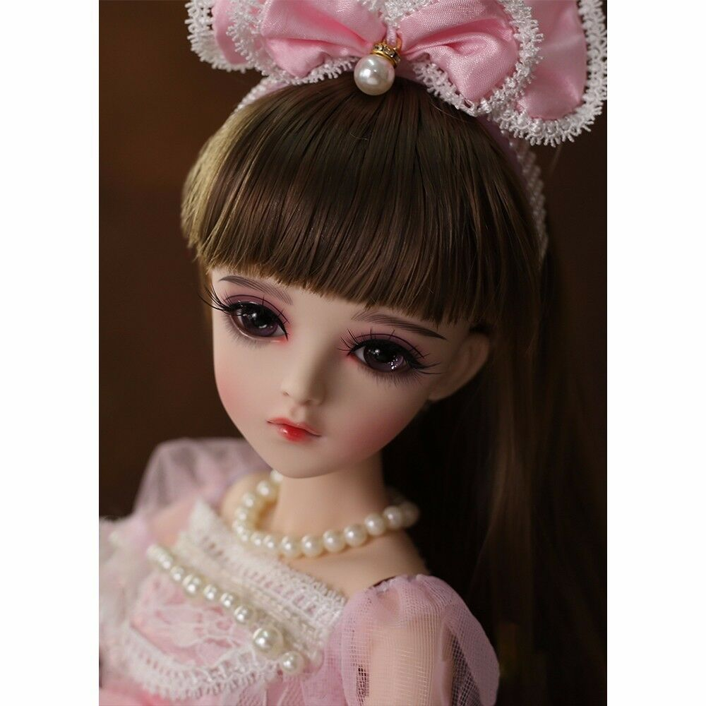 1 3 BJD Doll Ball Jointed Girl Gift with Face Make up Eyes Clothes Dress Outfits