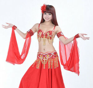 New-Belly-Dance-Costume-2-Pair-Armbands-Armlets-Arm-sleeve-12-colours