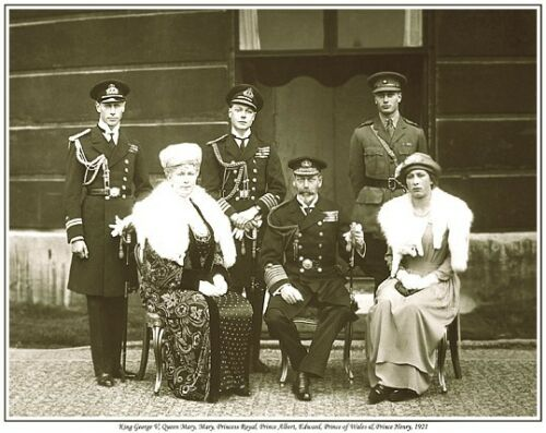 KING GEORGE V QUEEN MARY PRINCE HENRY PRINT KING GEORGE VI KING EDWARD VIII