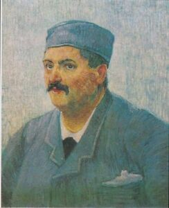 """oil painting handpainted on canvas """"Portrait of a male person with cap"""""""