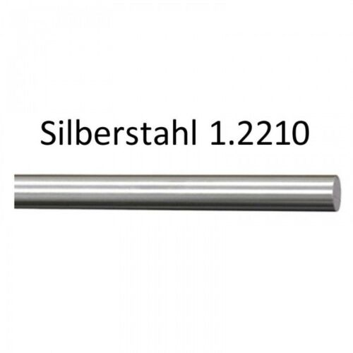 Silver Steel Round 1.2210-115crv3 h9 D = 8mm Cutting Length 250mm
