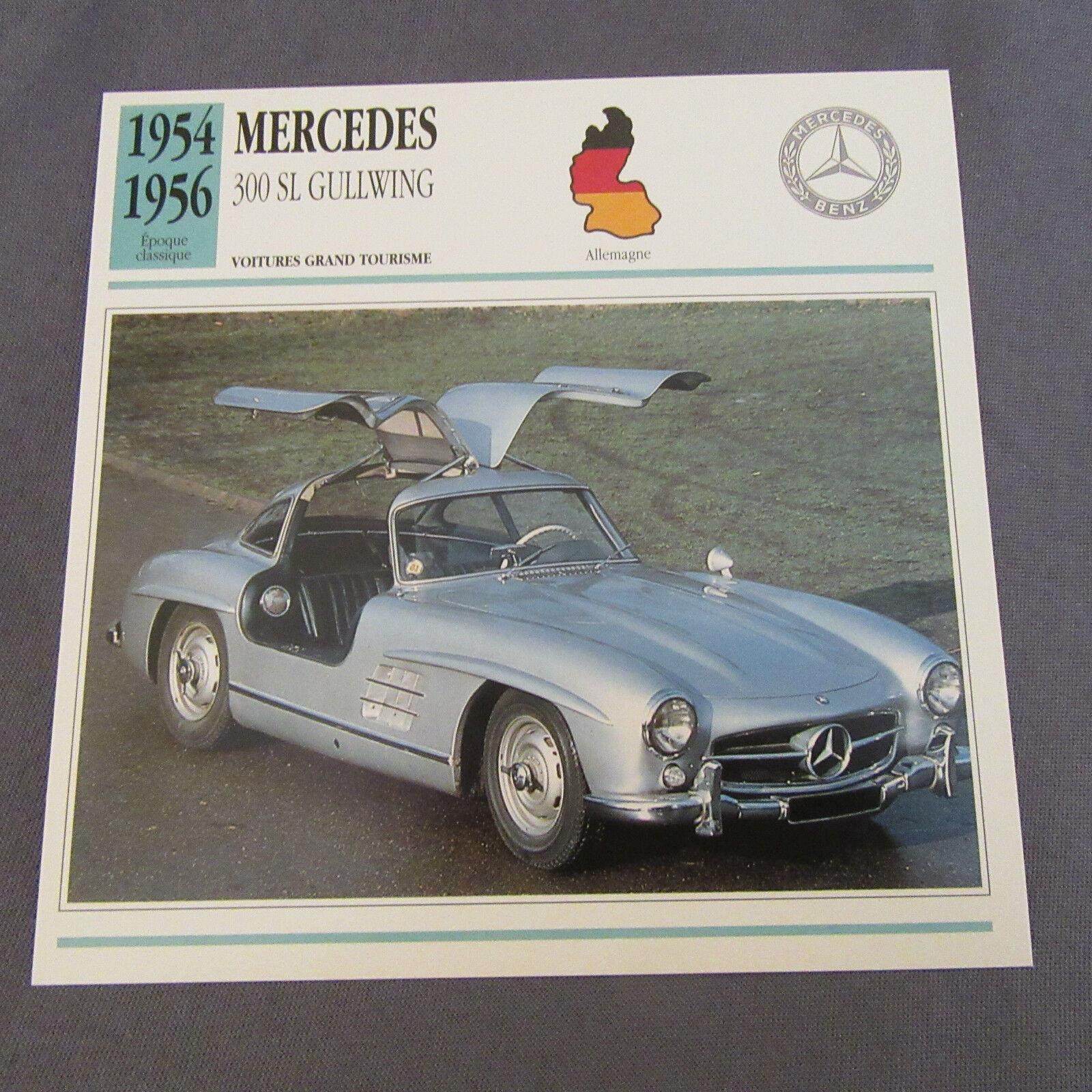 651C Edito Service Fiche Dépliant Mercedes 300 300 300 SL Gullwing ee06c9