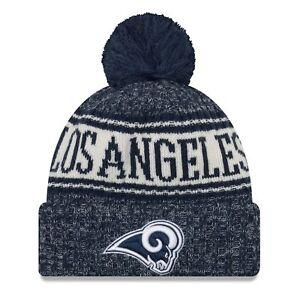3ccccb6a5 2018 Los Angeles Rams La Era Knit Hat on Field Sideline Beanie Stocking Cap