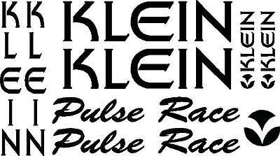 klein pulse RACE retro mountain bike frame stickers decals