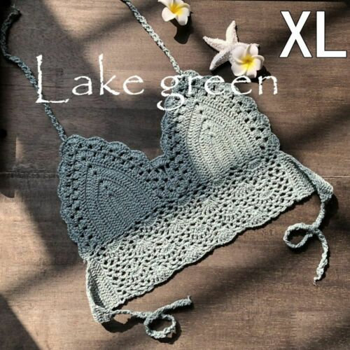 Bralette Bra Crochet Crop Top Boho Beach Camisoles Bikini Tank Backless Tops