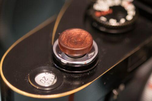 Botón de liberación suave de sándalo rojo africano para Fujifilm y Leica gran concav