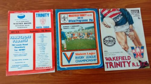 3 Wakefield Trinity Rugby League programmes