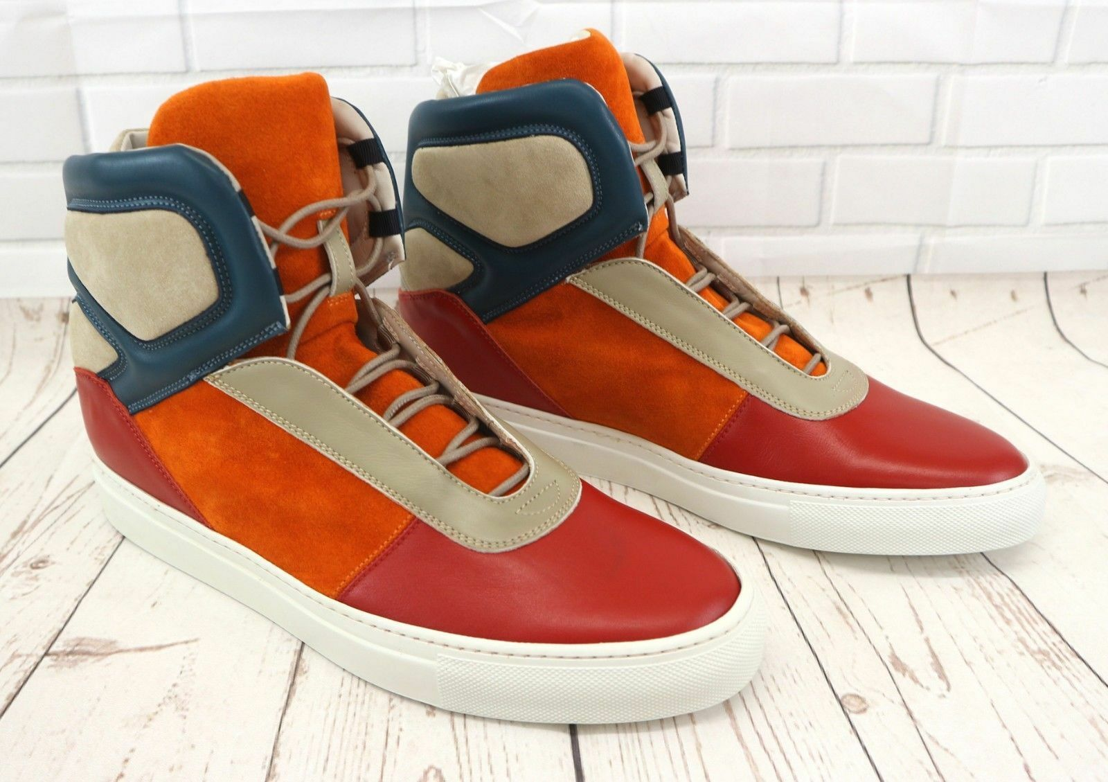 Cipher Sentient Red Marine Men's High Top Lace Up Trainers Sneakers Various Size