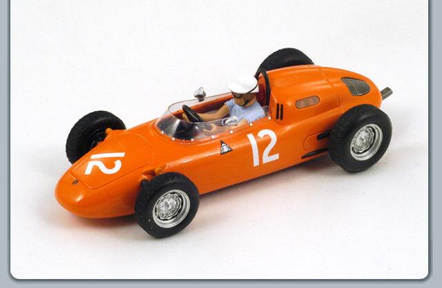 1 43 PORSCHE 718 TH PLACE UNITED STATES GP F1 1963 DE BEAUFORT SPARK MODEL