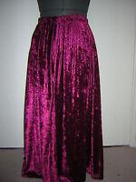 dark red berry velvet skirt custom made 10 12 14 16 18 20 22 24 26 28 30 32 3436