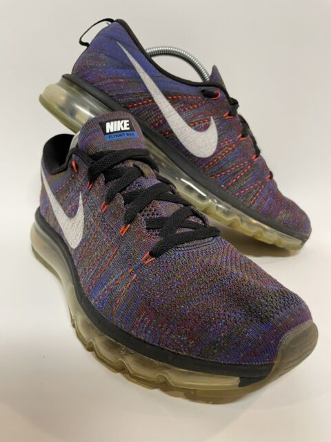 Nike Flyknit Air Max Multi-Color Running Shoes 620469-016 ~ Size 10.5 US 2016