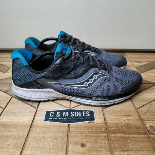 Saucony Mens Ride 10 Running Shoes Gray