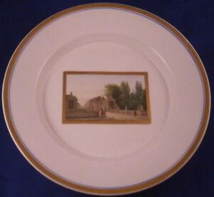 Antique-KPM-Berlin-Porcelain-Plate-Topographical-Scene-Scenic-Porzellan-Teller