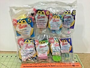 1994-McDonalds-sealed-Happy-Meal-toy-complete-set-of-8-Barbie-toys