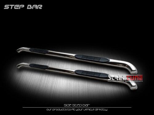 "For 07-18 Silverado//Sierra Crew Cab 3/"" Chrome Side Step Nerf Bars Running Boards"