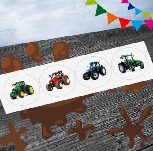 Pack of 12 Tractor Mix Farm Party Stickers Party Goody Bag Fillers Girls Boys