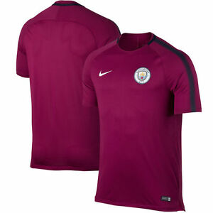 9301aa9ce46c Details about Nike Manchester City Official 2017 - 2018 Soccer Training Jersey  Purple   Berry