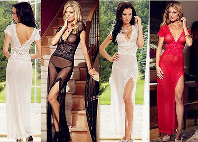 PLUS SIZE Gown Womens Lace Lingerie Nighty Sleepwear Babydoll Teddy XMAS GIFT