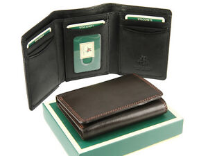 Visconti-Mens-Trifold-Genuine-Soft-Leather-Wallet-For-Credit-Cards-Notes-HT18