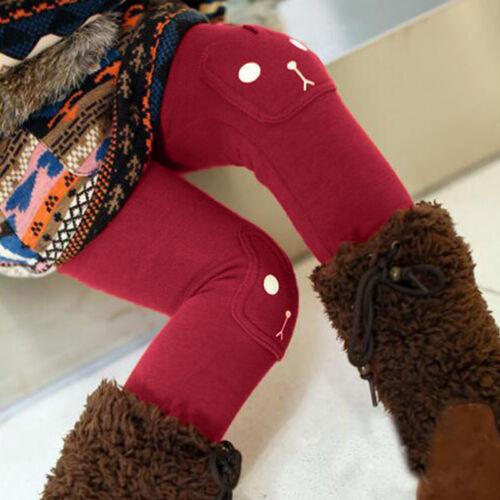 Girls Kids ToddlerTrousers Leggings Full Length Slim Pants Bottoms Winter 2-12Y