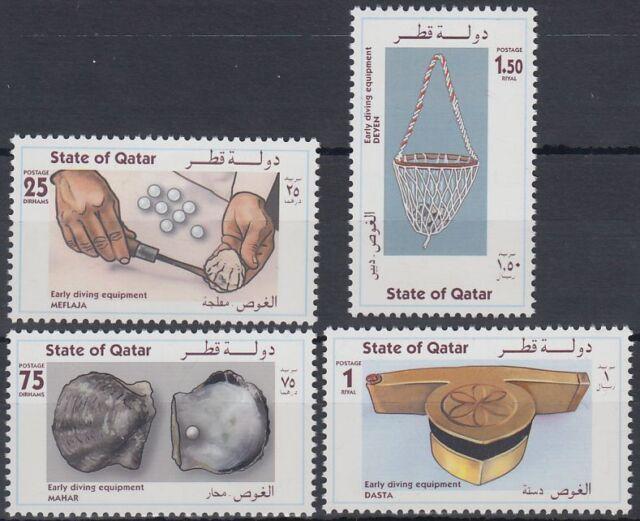 Qatar 1998 ** Mi.1131/34 Perlen Taucher Pearls Diving
